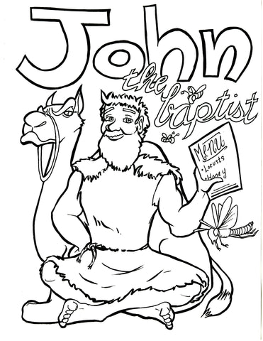 John The Baptist Coloring Page – Children\'s Ministry Deals