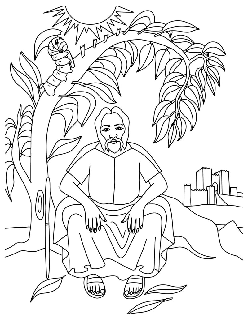 Jonah and the Worm Coloring Page