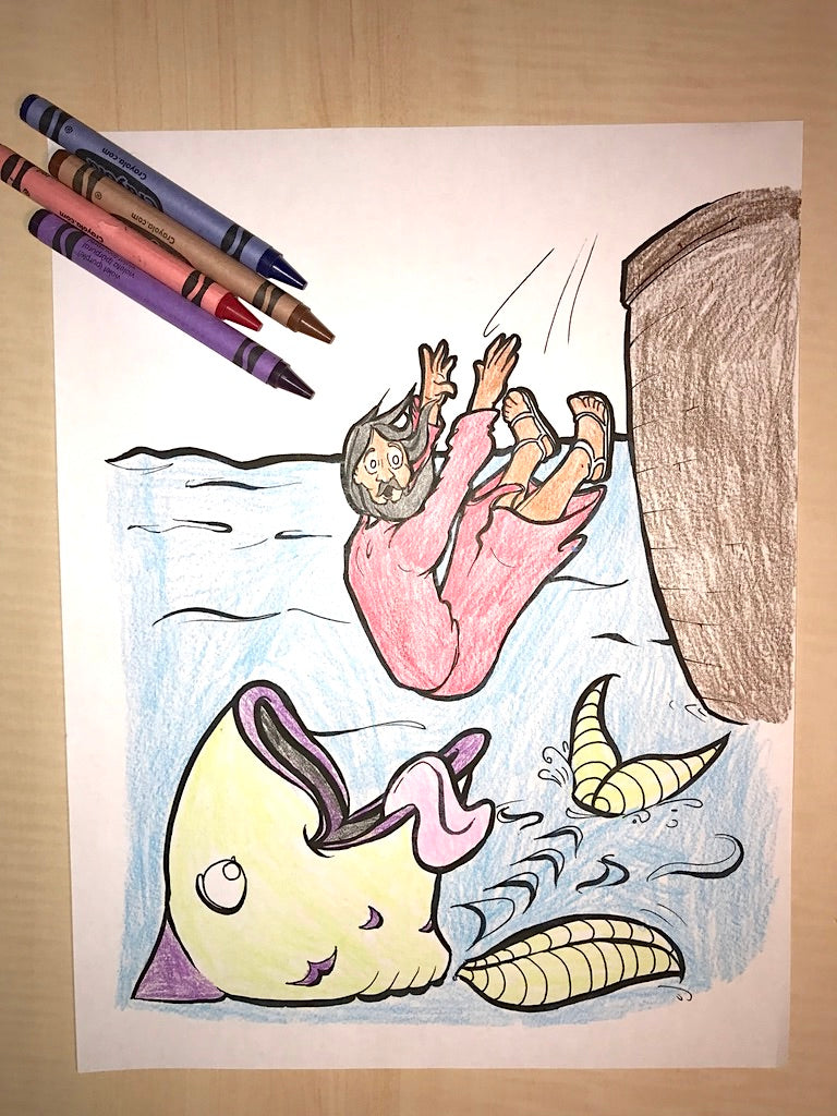 Jonah and the Whale Coloring Page – Children\'s Ministry Deals