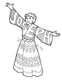 Joseph Coat of Many Colors Coloring Page