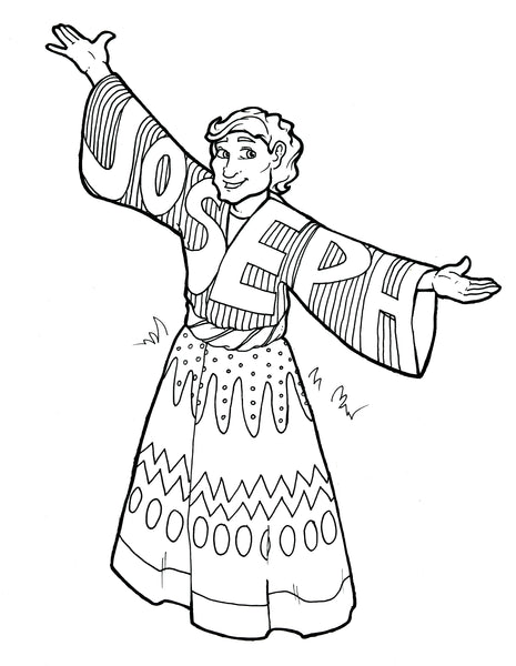 photo regarding Joseph Coat of Many Colors Printable named Joseph Coat of Innumerable Colours Coloring Web page