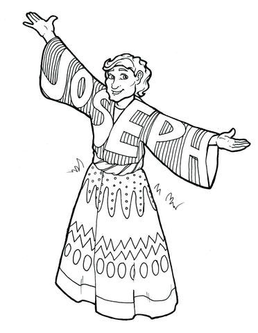 FREE Joseph Coat Of Many Colors Coloring Page