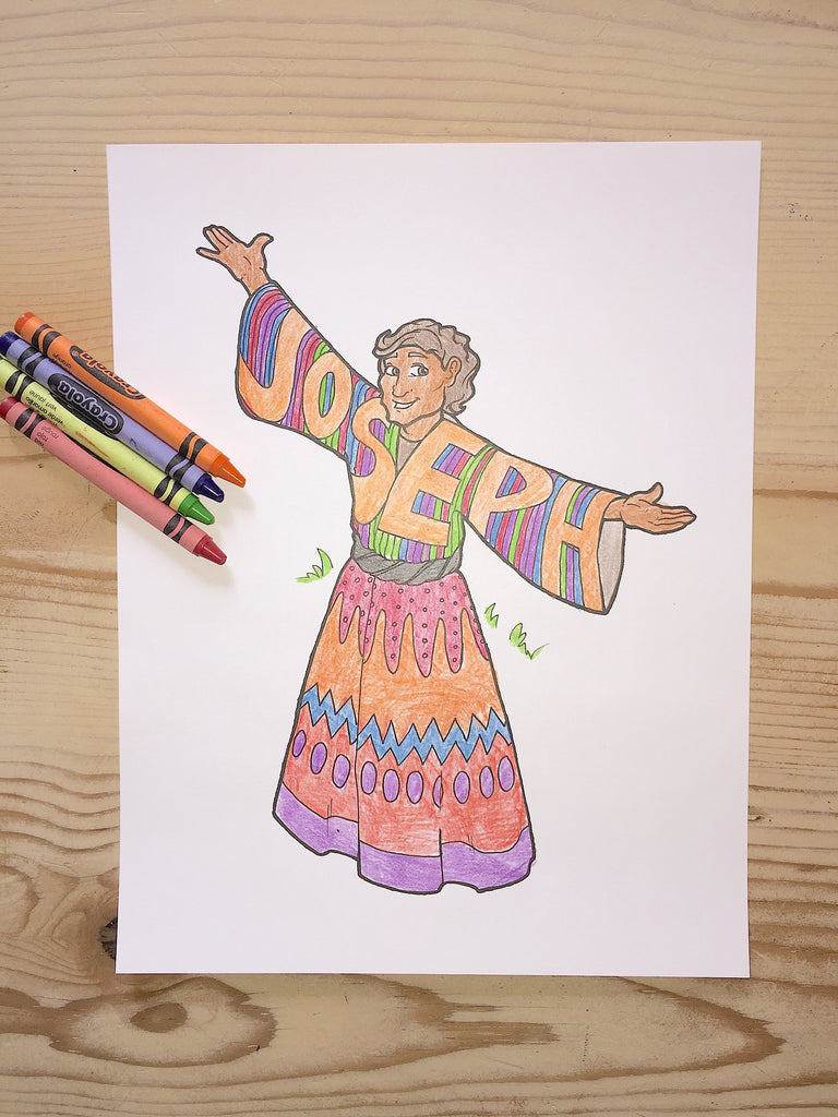 Joseph and His Coat of Many Colors Coloring Page