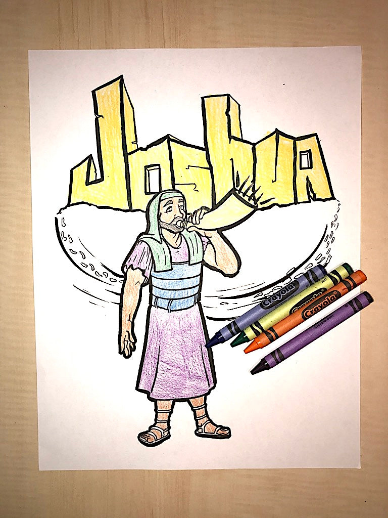 Joshua Coloring Page – Children\'s Ministry Deals