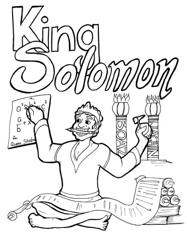 Solomon Coloring Page Children S Ministry Deals King Solomon Coloring Pages