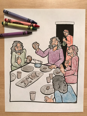 FREE Last Supper Coloring Page