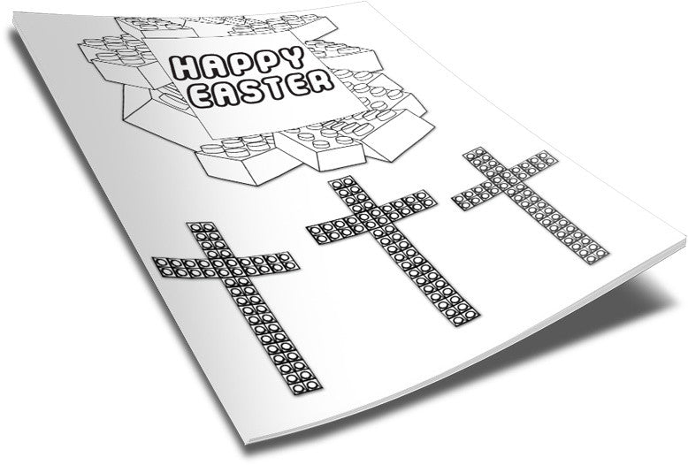FREE Lego Happy Easter Coloring Page