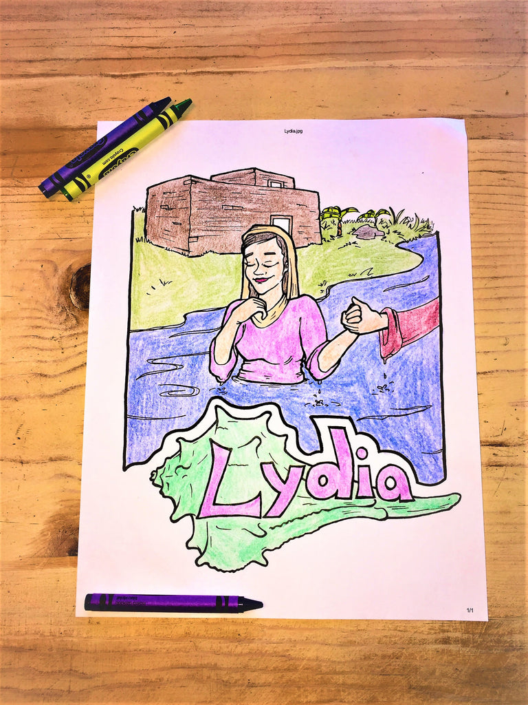Lydia Coloring Page Children 39 s
