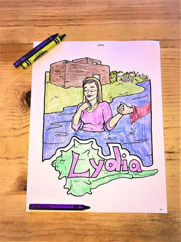 FREE Lydia Coloring Page
