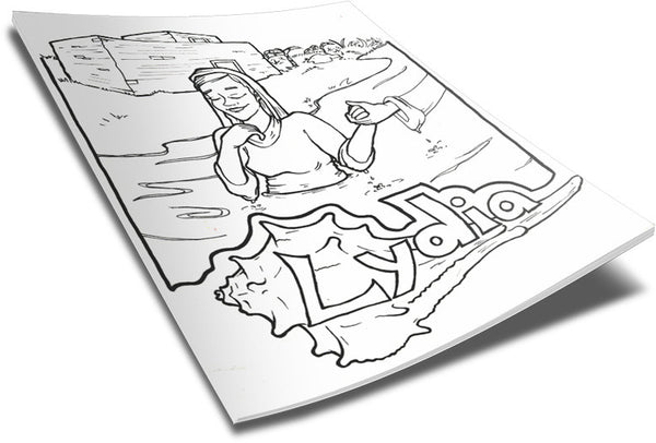 lydia bible coloring pages - photo#8
