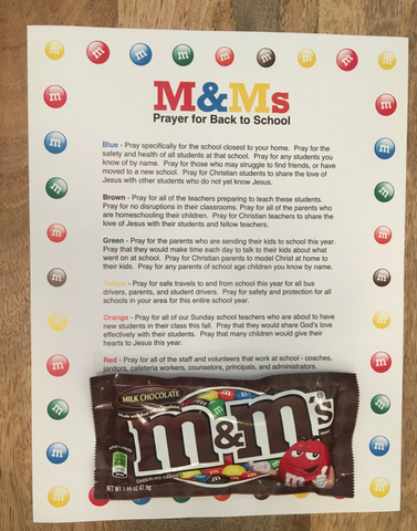 M&Ms Prayer For Back To School