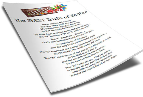 M&M Easter Poem for Kids