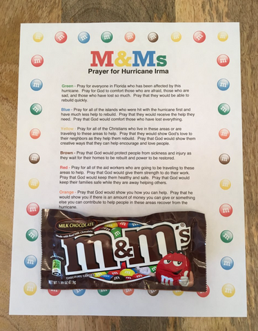 M&Ms Prayer for Hurricane Irma