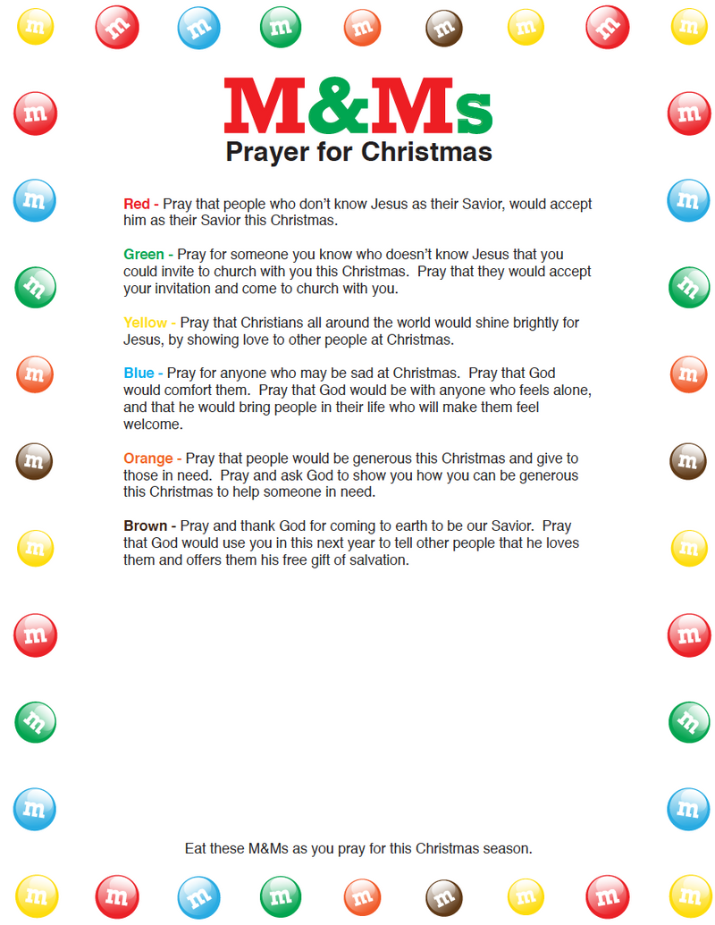 M&Ms Christmas Prayer