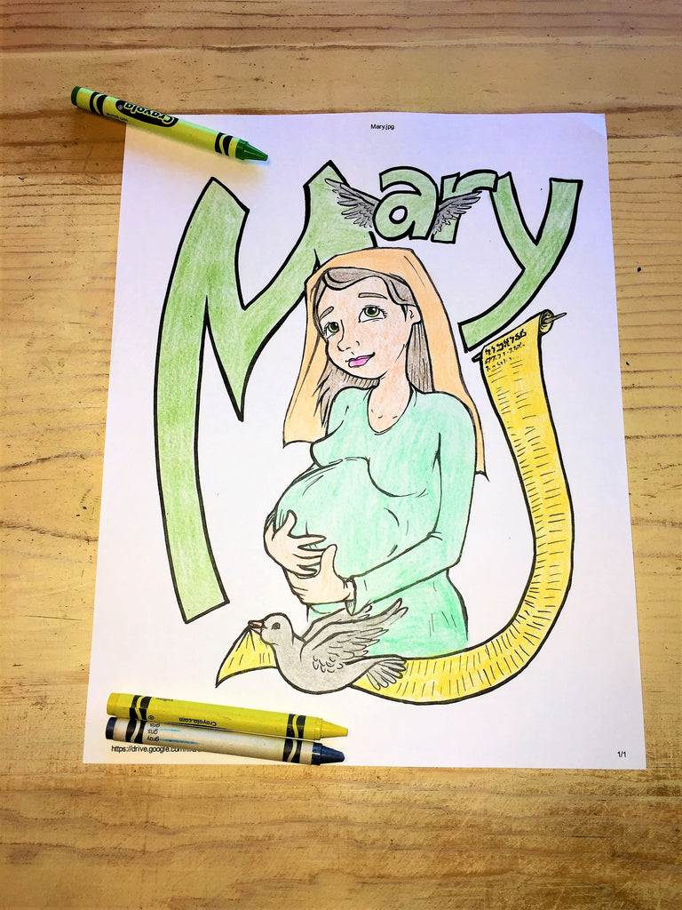 Mary Coloring Page – Children\'s Ministry Deals