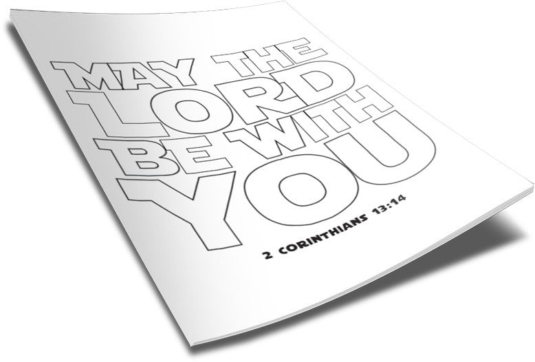 May The Lord Be With You Coloring Page