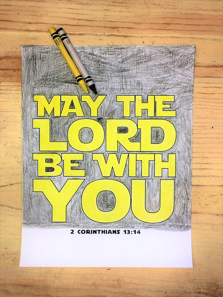 FREE May the Lord be with You Coloring Page