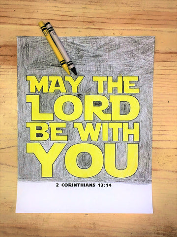 May The Lord Be With You Coloring Page Children 39 s