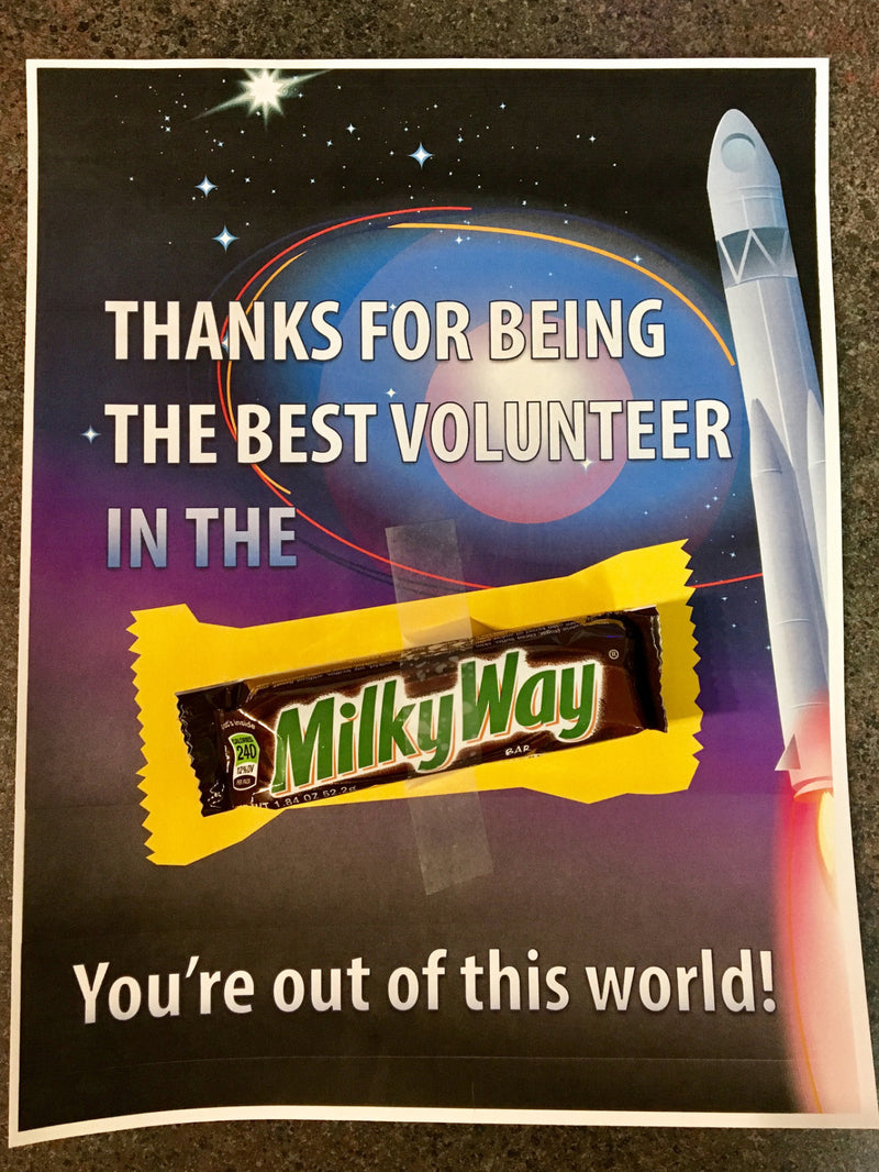 Candy Bar Children's Ministry Volunteer Note
