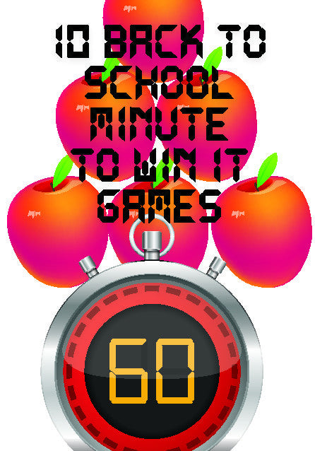 10 Back To School Minute to Win It Games