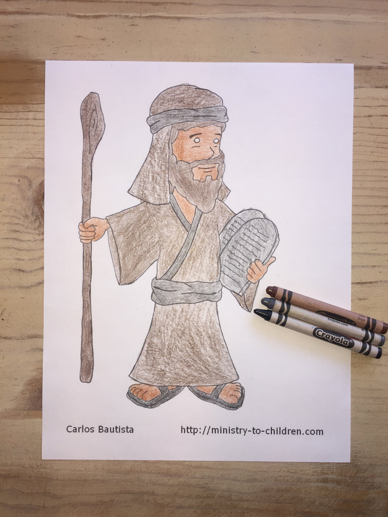 image regarding Free Printable Moses Coloring Pages named Moses Coloring Site