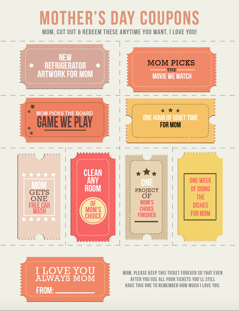 mothers day coupons for adults
