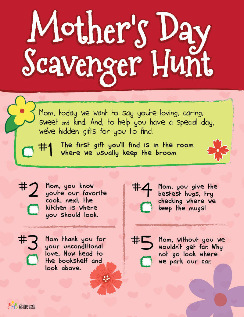 Mother's Day Scavenger Hunt