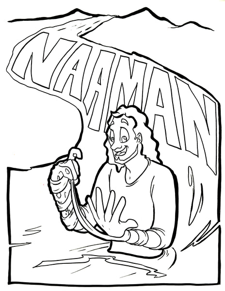 bible coloring pages naaman - photo#3