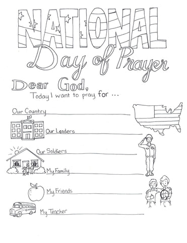 National Day of Prayer Coloring Page