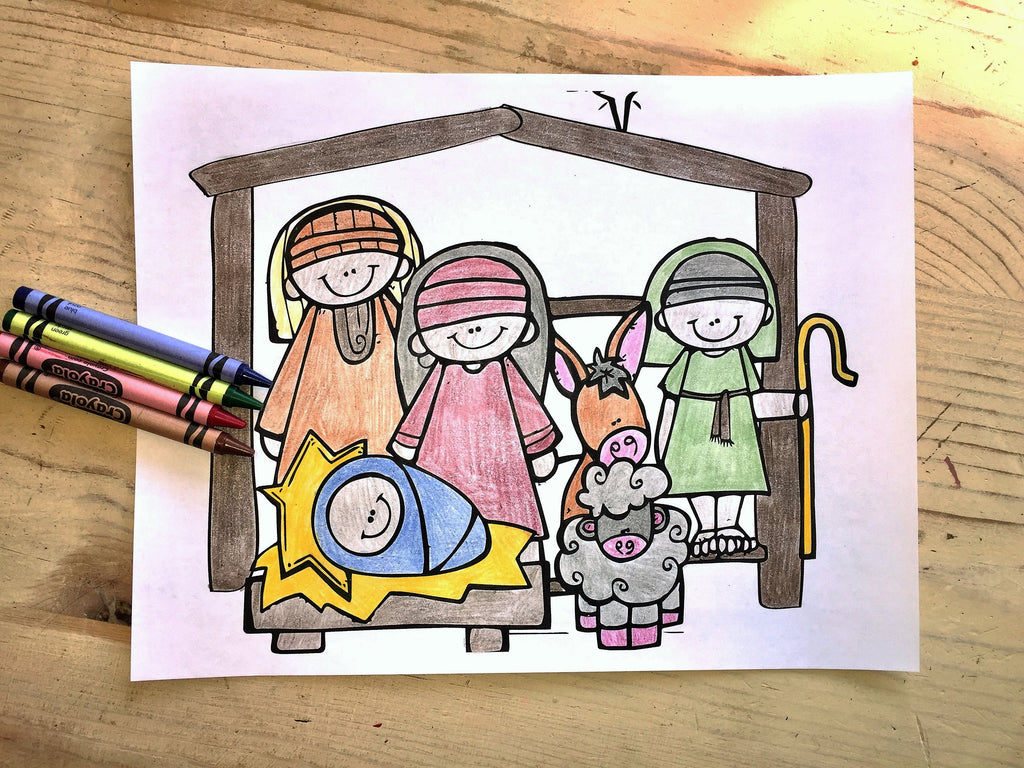 Children's coloring pages of nativity - Christmas Coloring Page Nativity
