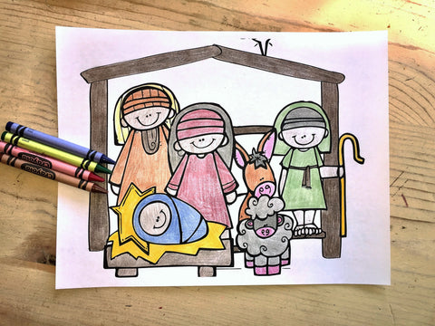 FREE Christmas Coloring Page- Nativity