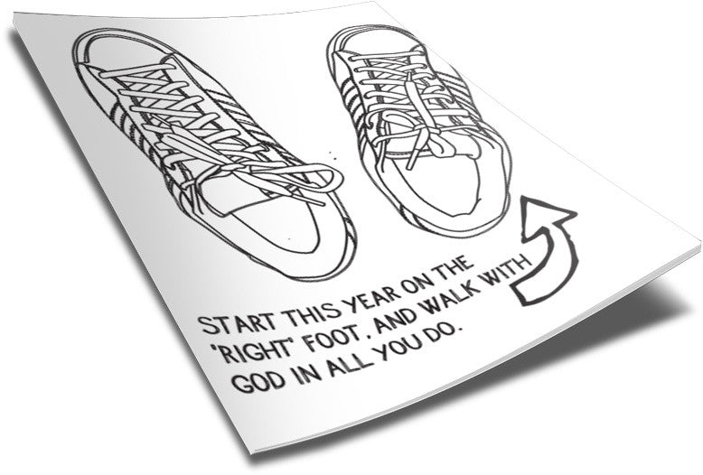 Right Foot Coloring Page