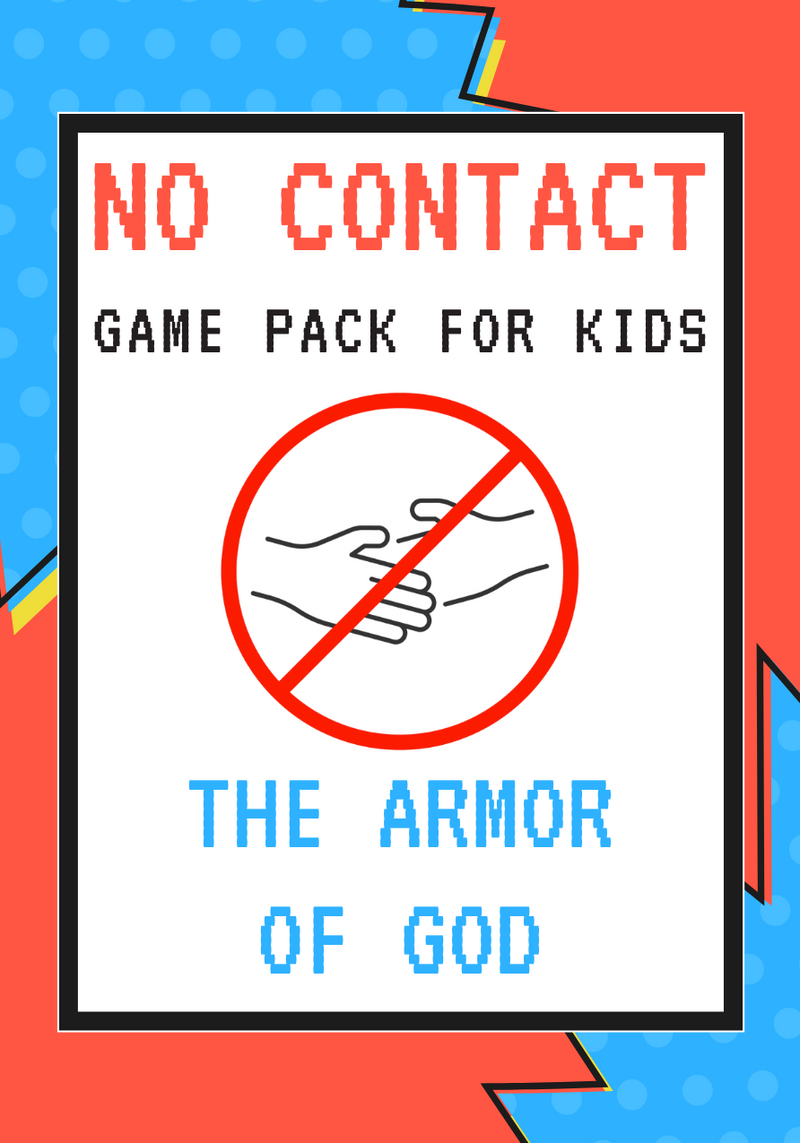 No-Contact Kids Church Game Pack: Armor Of God