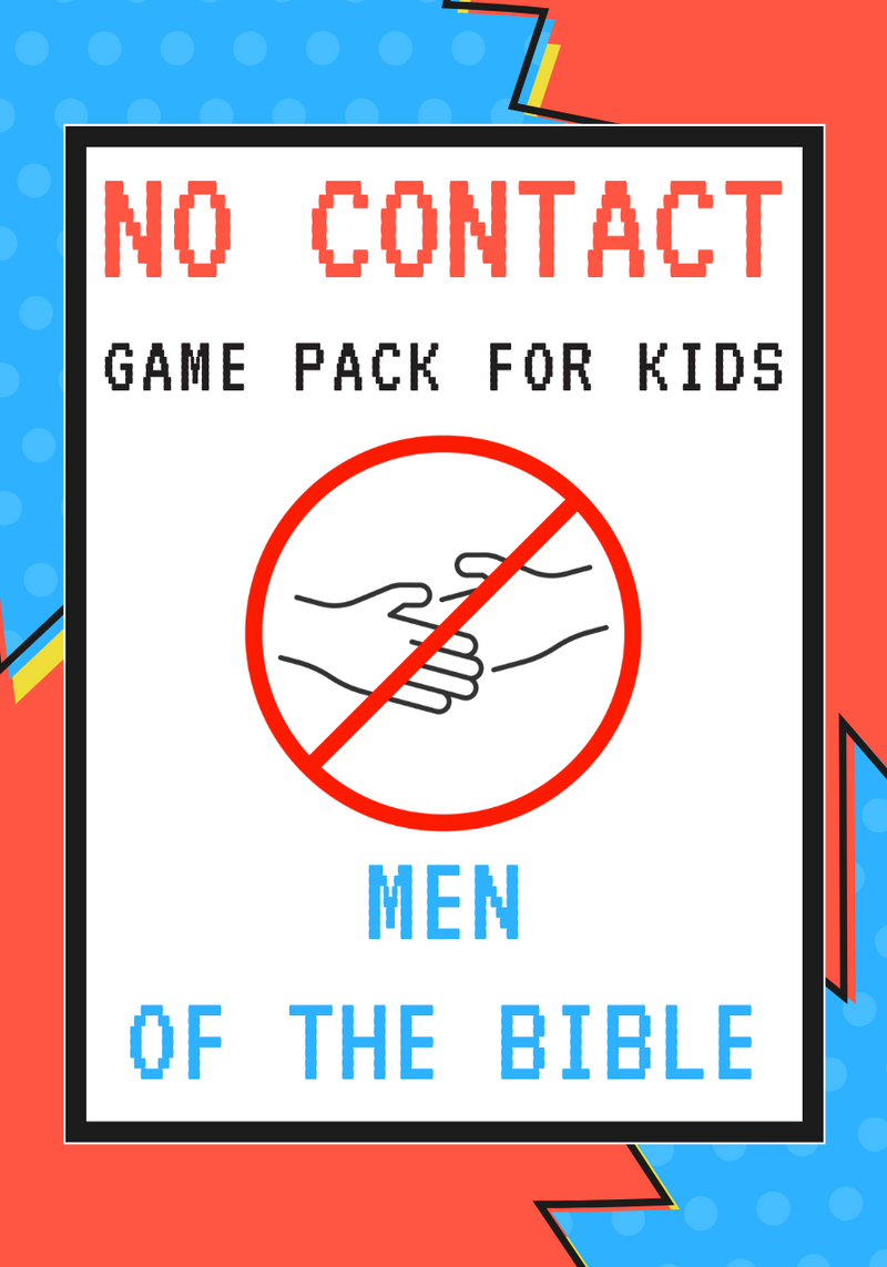 No-Contact Kids Church Game Pack: Men Of The Bible