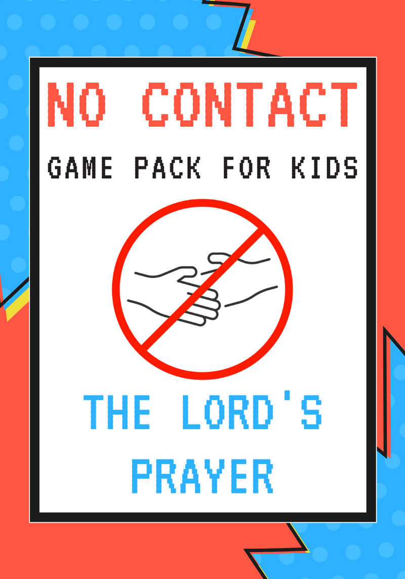 No-Contact Kids Church Game Pack: The Lord's Prayer