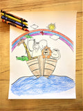 FREE Noah's Ark Coloring Page