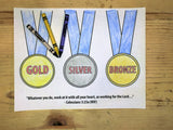 Olympic Medals Coloring Page