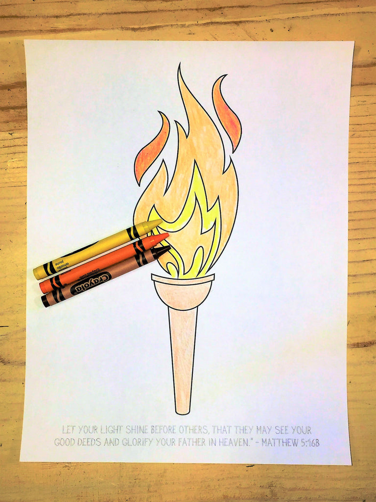 FREE Olympic Torch Coloring Page