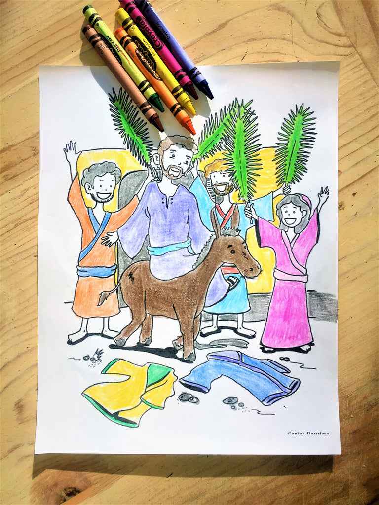Palm Sunday Coloring Coloring Page – Children\'s Ministry Deals