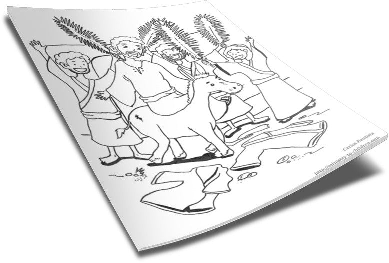 Palm Sunday Donkey Coloring Coloring Page