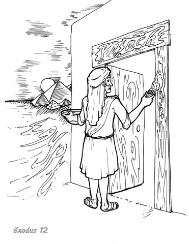 Passover Bible Coloring Page