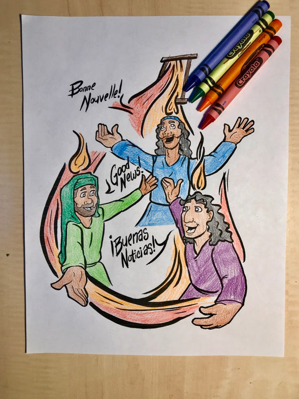 Pentecost Coloring Page Children S Ministry Deals