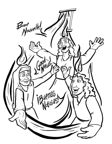 free coloring pages about pentecost - photo#3