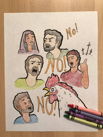 FREE Peter and the Rooster Coloring Page