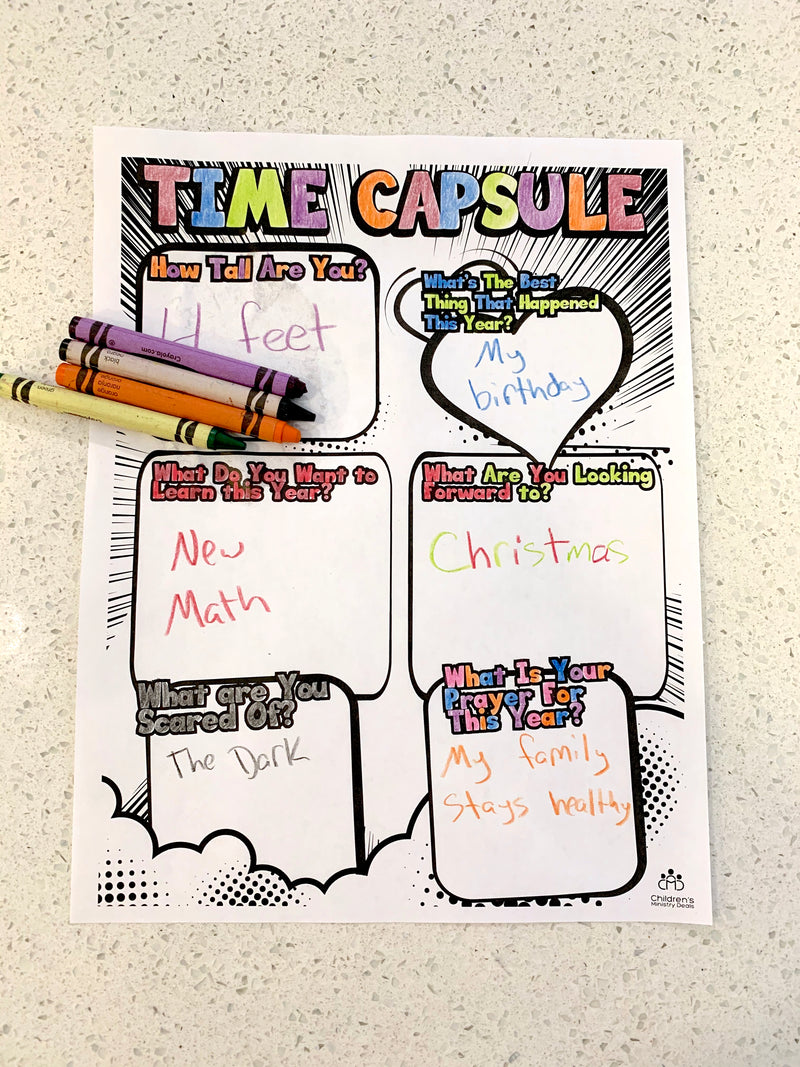 Time Capsule Coloring Page
