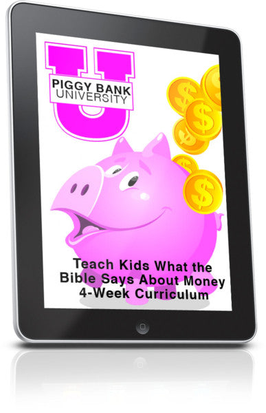 FREE Piggy Bank University Children's Ministry Lesson
