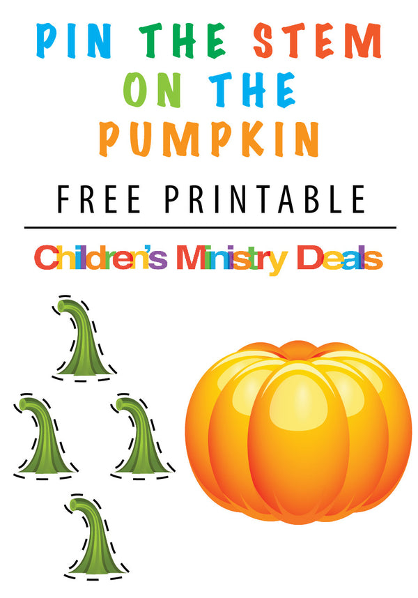 image about Pumpkin Gospel Printable referred to as Pin The Stem upon the Pumpkin Printable Recreation Childrens