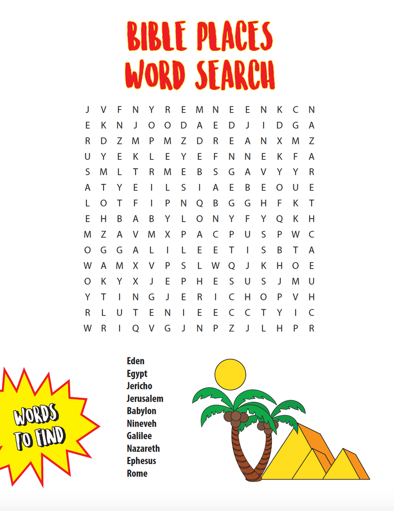 Places In The Bible Word Search