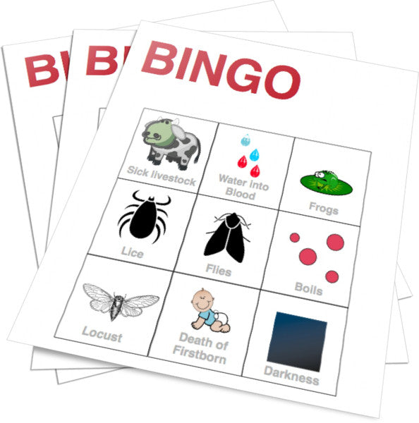image about 10 Plagues Printable identified as 10 Plagues of Egypt Bible Bingo Childrens Ministry Bargains