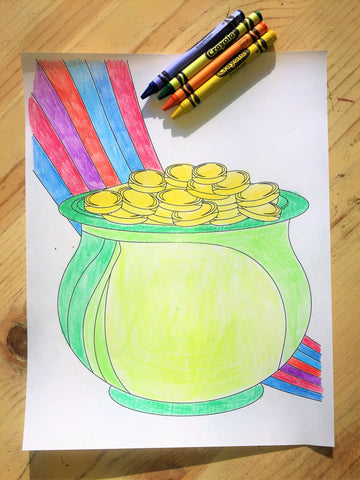 FREE Pot of Gold Coloring Page